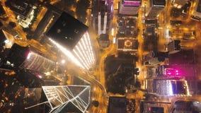 香港海岛夜视图  股票 摩天大楼在香港的商业中心 香港是一个普遍的游人 库存图片