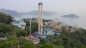 香港海洋公园正门的游人  海洋公园 股票录像