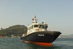 香港海警察巡逻艇 免版税库存图片