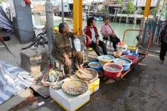 香港海鲜供营商 库存照片