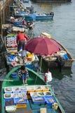 香港海鲜 库存照片