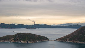 从香港海洋公园的看法 免版税库存图片