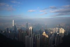 香港清楚的天际  库存图片