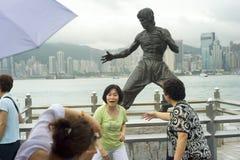 香港游人 免版税图库摄影
