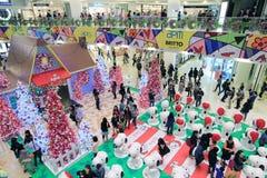 香港爱窥探者圣诞节装饰 免版税库存照片