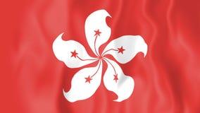 香港生气蓬勃的旗子  向量例证
