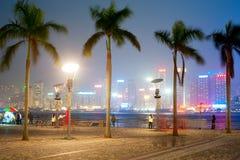 香港的堤防 库存图片
