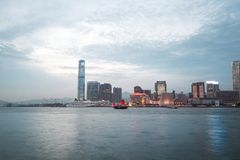 香港的都市风景 免版税库存照片