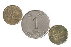 香港硬币 免版税库存照片