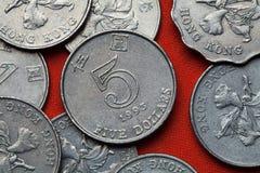 香港硬币  库存图片