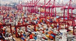 香港端口 免版税库存图片