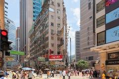 香港繁忙的时代广场 免版税库存照片