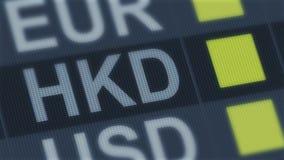 香港美元上升,秋天 世界外汇市场 动摇的货币兑换率 皇族释放例证