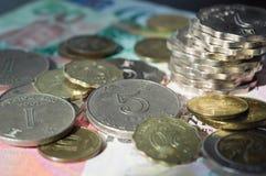 香港美元疏散硬币  免版税图库摄影