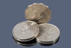 香港美元的硬币 免版税图库摄影