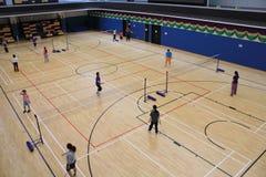 香港羽毛球大厅 库存照片