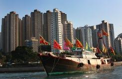 香港船 免版税库存照片