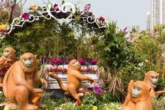 香港花卉展览2018年 免版税库存图片
