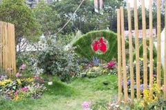 香港花展在2017年 库存图片
