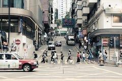 香港英皇道街照片 库存图片