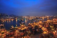 香港葵涌码头2016年 免版税库存照片