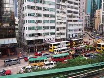香港街场面 免版税库存图片