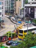 香港街场面 库存照片