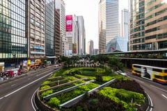 香港街道。 免版税库存照片