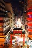 香港街道寺庙 免版税库存图片