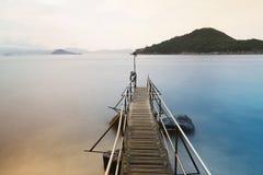 香港西环游泳棚子 免版税库存图片