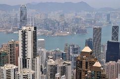 香港视图 免版税库存照片