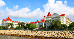 香港迪斯尼乐园旅馆 免版税库存图片
