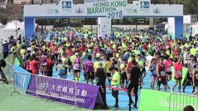 香港马拉松2018年 股票视频