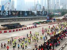 香港马拉松2018年 库存照片
