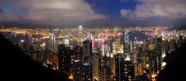 香港高峰视图 库存照片