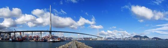 香港高速公路桥梁天 图库摄影