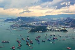 香港鸟瞰图 免版税库存图片