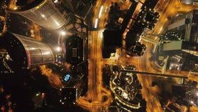 香港,中国- 2018年4月:香港顶视图,五颜六色的夜生活,都市风景 股票 洪美丽的景色  影视素材