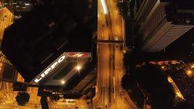 香港,中国- 2018年4月:香港顶视图,五颜六色的夜生活,都市风景 股票 洪美丽的景色  股票录像