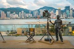 香港,中国- 2019年4月22日:描述电影业工作者的雕象 库存图片