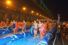 香港:滑城市 库存图片
