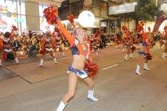 香港:Intl农历新年夜游行2015年 免版税库存照片
