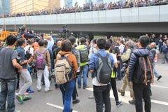 2015年香港活动家在选举包裹的表决前前进 图库摄影