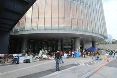 2015年香港活动家在选举包裹的表决前前进 免版税图库摄影