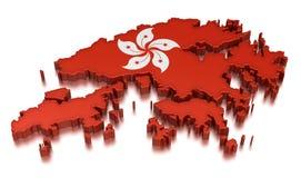香港(包括的裁减路线) 免版税库存照片