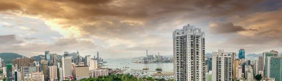 香港- 2014年5月12日:香港惊人的全景我 免版税库存图片