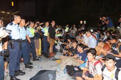 香港类抵制竞选2014年 库存照片