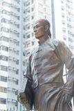 香港- 2015年12月02日:在孙中山博士的孙中山博士雕象 图库摄影