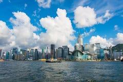 香港- 2014年7月27日:香港地平线 图库摄影