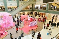 香港购物中心内部 免版税库存照片